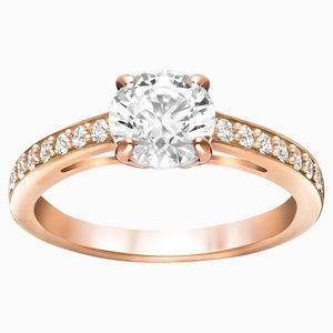 SWAROVSKI~attract~ROSE-GOLD plated CRYSTAL RING